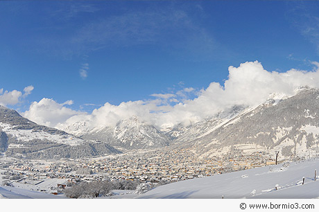 Bormio in the snow