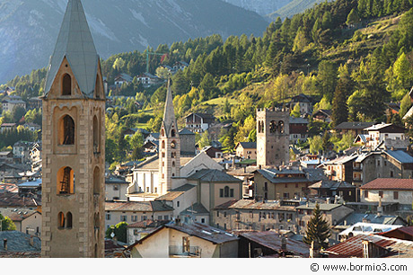 Towers and churches in Bormio